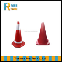 28inch/70cm/4.5kg colorful fluorescent flexible roadway safety rubber traffic cones