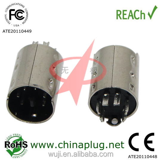 High quality ecu male 6 pin connector