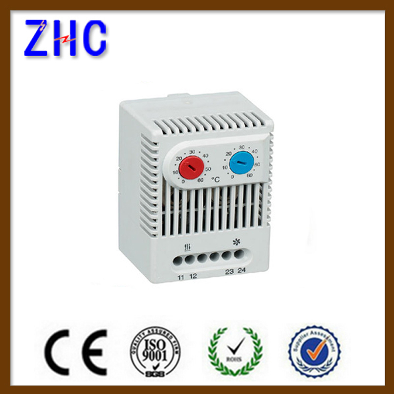 CE 24V Smart Compact Mechnical Snap Action temperature adjustable Control Bimetallic Heater Thermostat