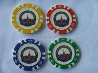 14 Gram Colorful Clay Poker Chips restaurant center table mats