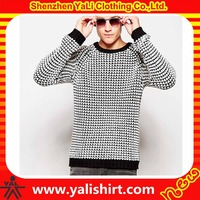 Hot sale winter slim fit multicolors raglan sleeve cotton/polyester latest sweater designs for men