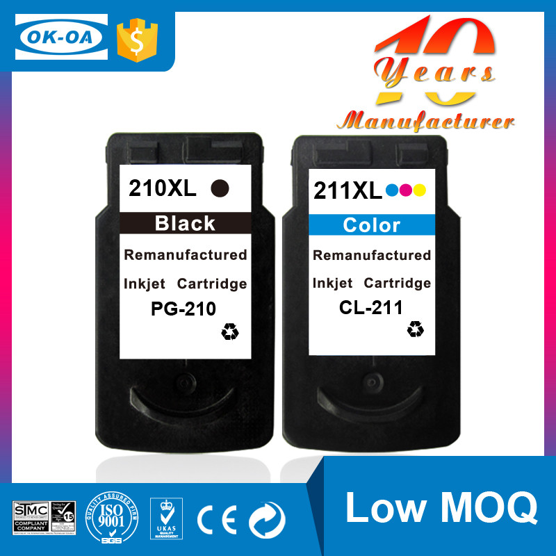 Hot high quality compatible ink cartridge for Canon pg210 cl-211
