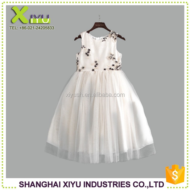 Factory supplier Different Styles new frock design for baby girl design one piece girls party dress