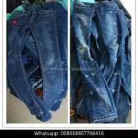 Wholesale Used Clothing Women Pant Jeans