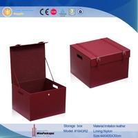 Christmas home garden multipurpose leather wooden storage box