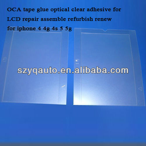 OCA tape glue optical clear adhesive for LCD repair assemble refurbish renew for iphone 4 4g 4s 5 5g