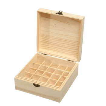 Hand-polished 25 grid wooden storage box wooden essential oil box