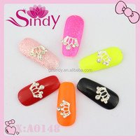 High Quality Newest 2015 Wholesale Nail Art Alloy Princess Crown For Girl's Nail