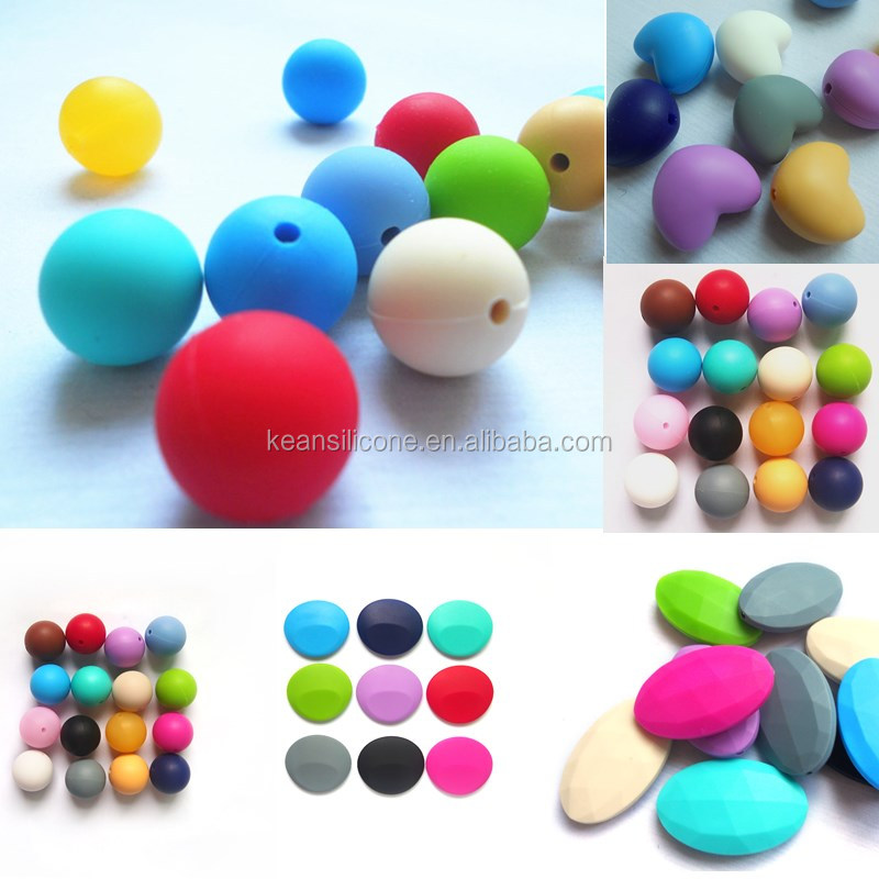 Popular Food Grade BPA Free Silicone Soft Bead Landing Wholesale for Baby Teething