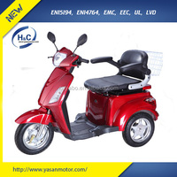 CE new design china 48V 1000W handicapped scooter 3 wheel scooter for adults