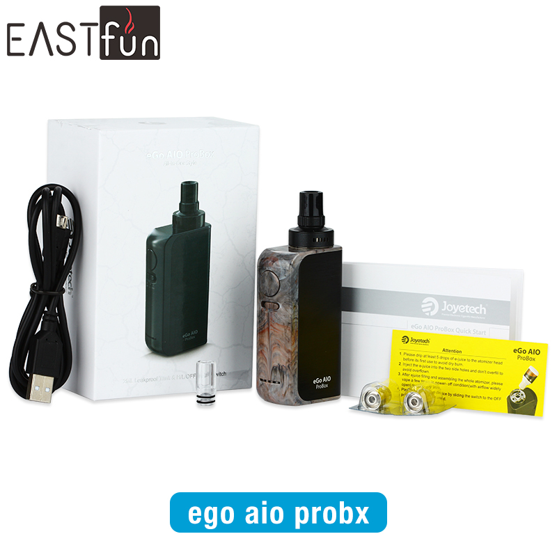 Rubber Black, Gloss Black, Resin Joyetech eGo AIO Pro Box Kit Fast Shipping Joyetech eGo AIO ProBox Kit