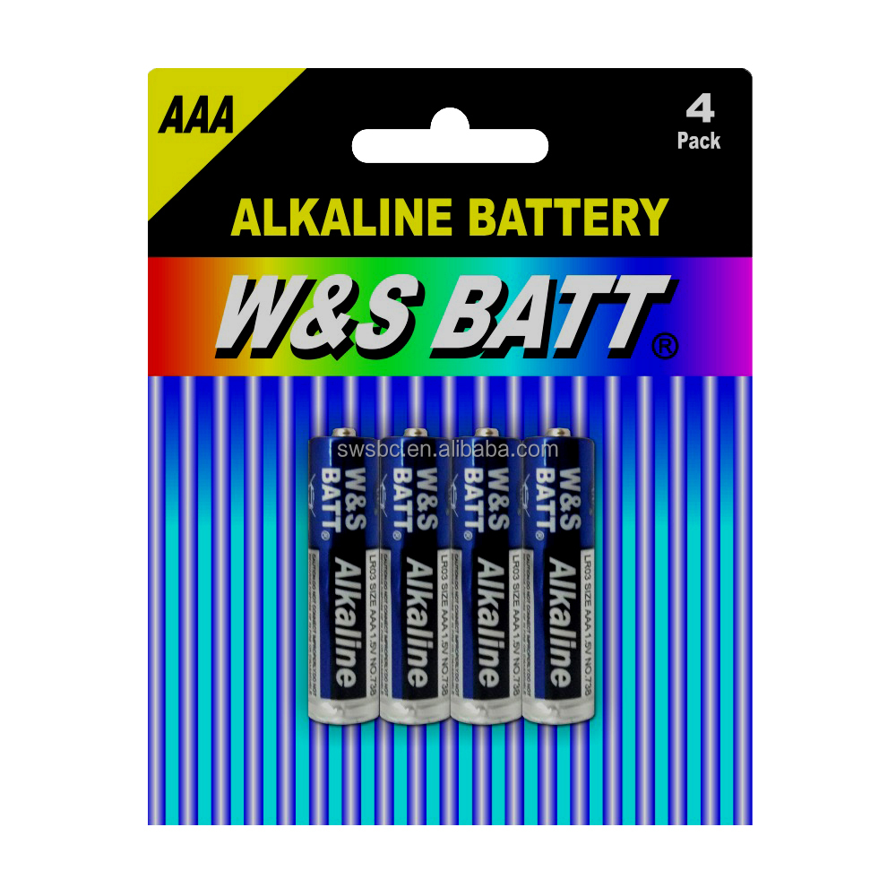 Mercury Free Alkaline Battery 1.5V LR03 AAA AM-4