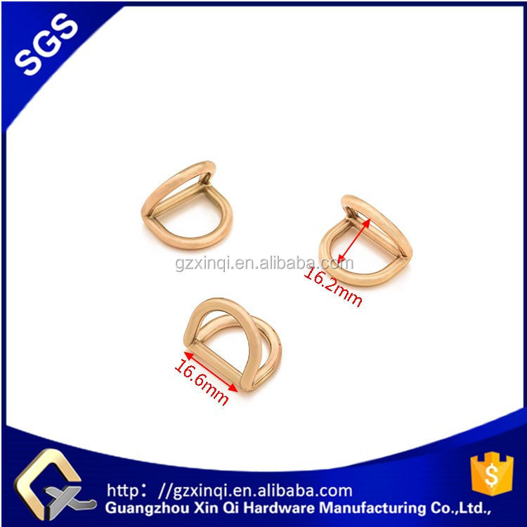 XINQI hot sell bag accessory metal d ring for handbags