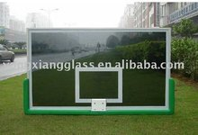 Clear glass basketball backboard factory, transperant back view with 450 mm 2 strong spring ring
