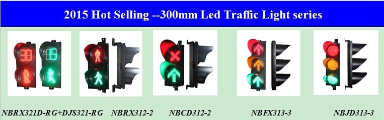 Top selling 300mm(12inch) led red green pedestrian traffic light with countdown timer