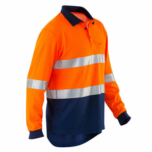 HiVis Cool Breathe Polo Shirt with Cross Back Workwear Hi Vis Polo Shirt Safty Reflective Short / Long Sleeve POLO T Shirts