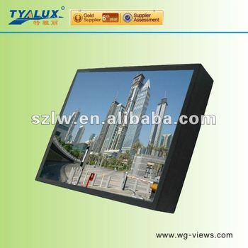 22 inch Computer RS232 signal centralized control LCD CCTV monitor