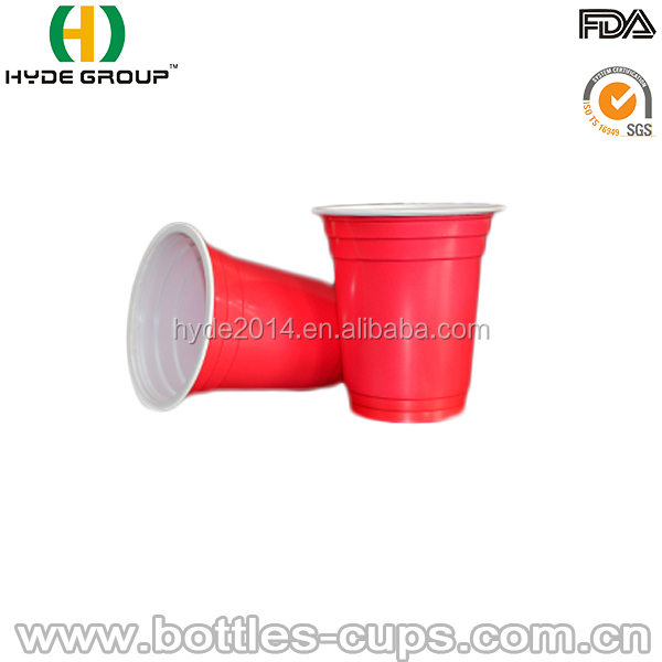 PP red disposable plastic beer cup