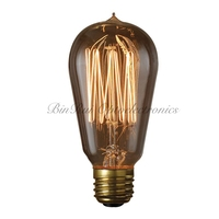 Manufacturer ST57/ST18 E27 Decorative Vintage Filament Edison Light Bulb