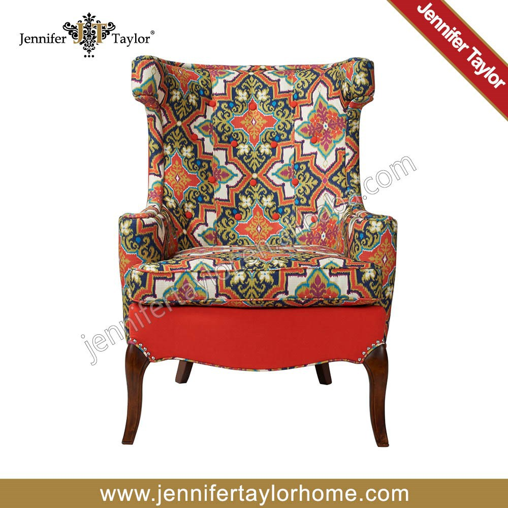 New arrival 100% polyester fabric sofa old fashioned sofa