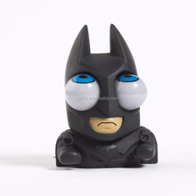 custom made 6 inch vinyl toy/customized squeezable cool superhero bat figures convex eyes vinyl toy made in China manufacturer