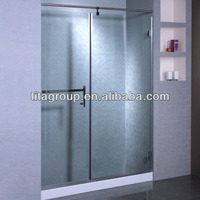 Frameless bathroom tempered glass shower door