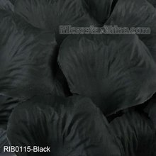 Black heart shape silk flower rose petals