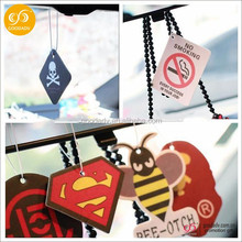 Custom best smelling perfumed paper car air freshener for car