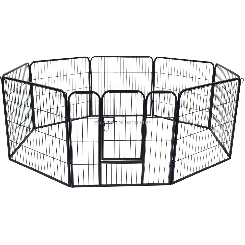 High quality 8 panel foldable steel pet dog exercise playpen made in china