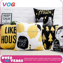 All kinds best price square breathable cotton printed plush cushion