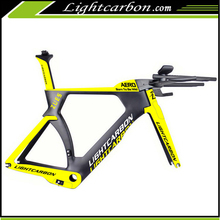2017 LightCarbon Chinese Full carbon fiber hidden brake carbon tt time trial frame set LCTT004
