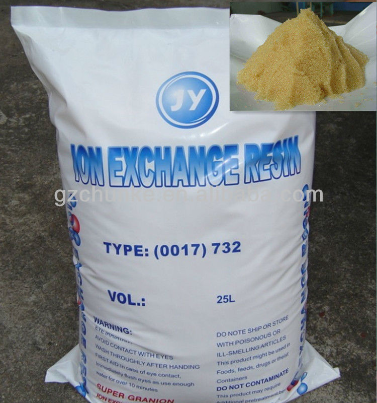 strong acid cation exchange resin/ion exchange resin/water treatment material