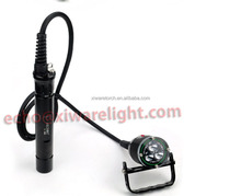 Professional Aluminum CREE Superpower Cave Dive Flashlight , LED Scuba Flashlight WH36(CE)