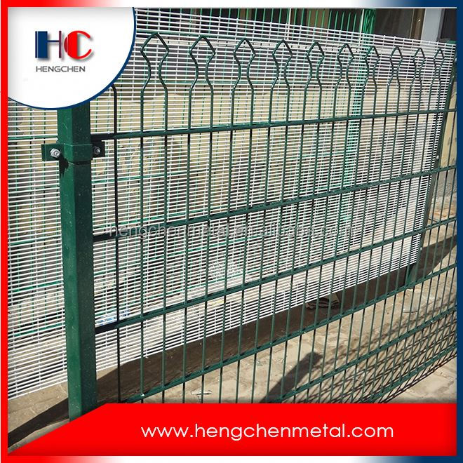3m high 868 twin galvanized wire mesh fence