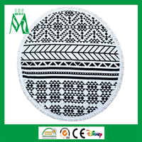 2016 new custom print round towel beach
