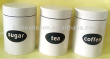 Set 3 Kithchen Red Tea Coffee Sugar Canisters