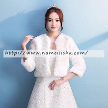 wholesale fur black bolero jacket for evening dress long sleeve cheap pashminas in stock