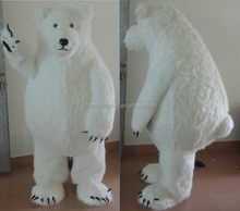giant furry adult polar bear costume adult white bear costume