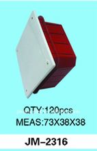 Yiwu No.1 plastic electrical outlet boxes JM-2316