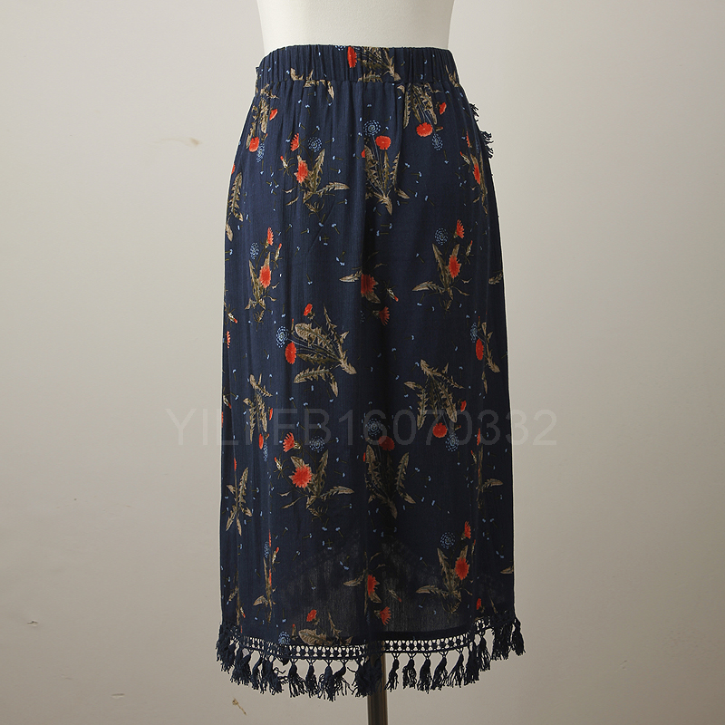2016 Latest Fashion High Waisted African Print Maxi Skirts