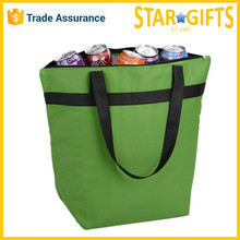 Custom Logo Printed Aluminum Foil Lining Cheap Foldable Cooler Tote Bag For Shopping