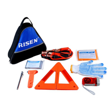 Top quality safety warning triangle kit / roadside car emergency kit with jump starter