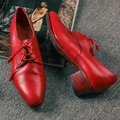 Ladies Footwear Manufacturers Wholesale Girl Casual Lace Up Women' Leather Dress Shoes