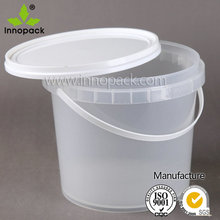 5l wholesale clear plastic container with lid and handle