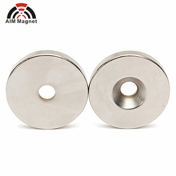 N48 15 x 5 mm Hole 5mm Neodymium Countersunk Ring Magnets