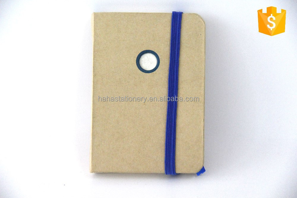 Ivory board cover packet notebook with embossed