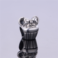 Fashion silver Bead Hot sale Bowknot Pendant graduation Season Gift Charms Custom Made Silver Beads Jewelry T019