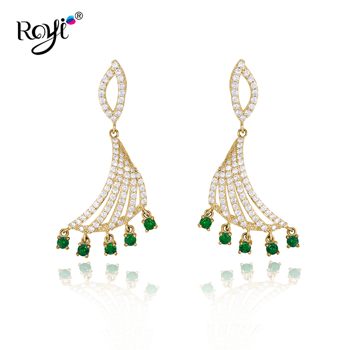 Fancy Jewelry Items Saudi Gold Peacock Earrings Designs 925 ...