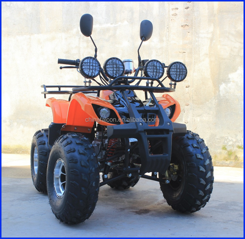 8 inch Alloy Hub Gas 125CC Adult use ATV Quad With Reverse Gear Led Headlight