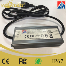 2017 Shenzhen popular 12v led power supply constant voltage 4000mA 48W ip67 CE FCC led driver for led outdoor lights